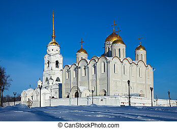 Assumption cathedral at Vladimir in winte - Assumption...