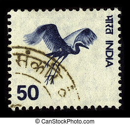 Postage stamp. - INDIA-CIRCA 1980:A stamp printed in INDIA...