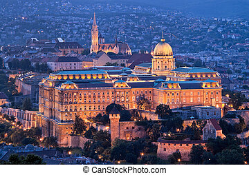 Hungary, Budapest, Castle Hill and Castle City View -...