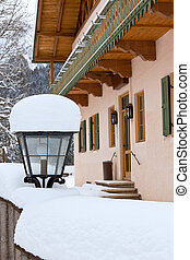 street lamp near house in Bavaria
