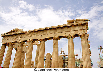 The Parthenon, in Athens Akropolis, Greece, EU