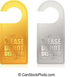 please do not disturb sign illustration