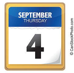 calendar illustration detail design isolated over white