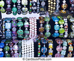 Hand Crafted Jewelry - A display of hand crafted jewelry