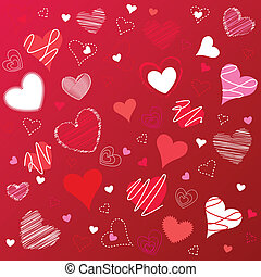 hearts valentine's icons, wallpaper