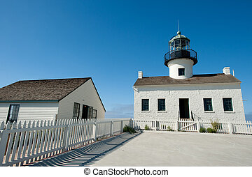 Point Loma lighthouse - Old Point Loma lighthouse near San...