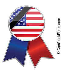 us ribbon with black stripe