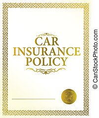 automobile insurance policy illustration design