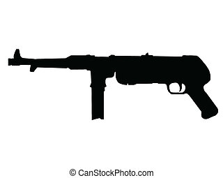 WW2 - Sub-Machine Gun - WW2 Series - German MP38 sub-machine...