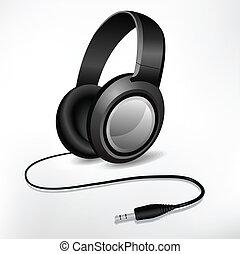 headphones illustration isolated on
