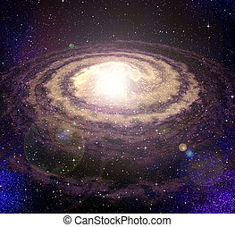 spiral vortex galaxy in space - g