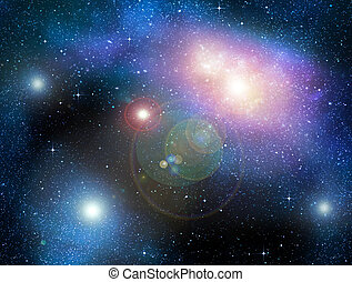 starry deep outer space nebual and galaxy - deep outer space...