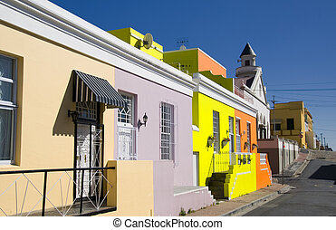 bokaap cape town - colourful houses in bo-kaap cape town