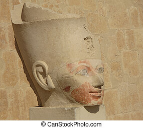 Big Head Egyptian Statue - An Egyptian Statue of a man's...