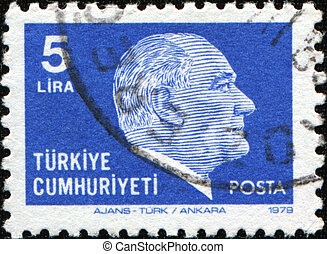 Ataturk - TURKEY - CIRCA 1981: A stamp printed in Turkey...