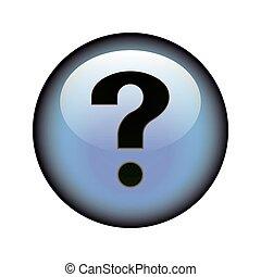 botón, pregunta, marca