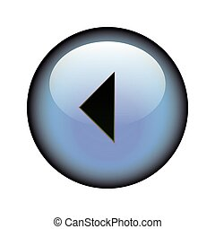 Arrow Left Button - A circular arrow left web button