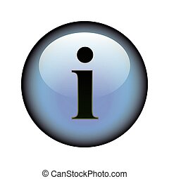 Information Button - A circular information web button.