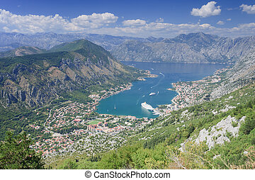 Kotor Bay Montenegro from Lovcen national park