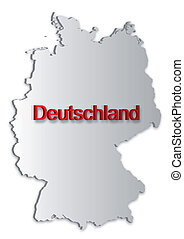 Germany Map - A simple 3D map of Germany.