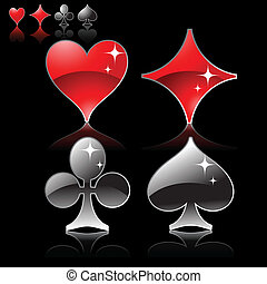 Gambling symbolics - Set of card symbols