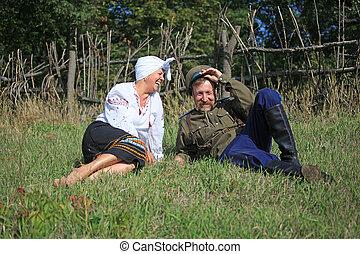 Hilarious story - Cossack men and women, met in the meadow...