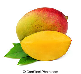 Mango fetus on a white background