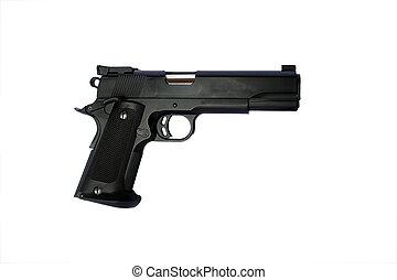 mano, arma de fuego