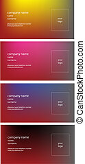 business card color vector collection