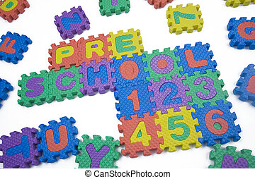 Preschool and Numbers - Preschool and numbers written in...