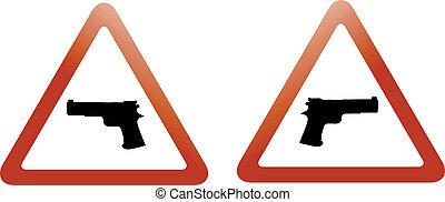 gun zone signs