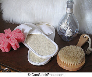 Spa products - A display of spa products...