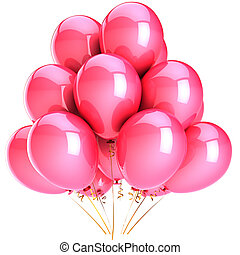 Pink balloons romantic Love party - Balloons total pink....