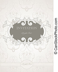 Wedding invitation - Vector vintage pattern for wedding...