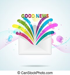 Good News - Vector picture with letter and Good News