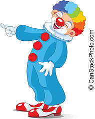 Cute Clown laughing - Illustration of Cute Clown laughing...