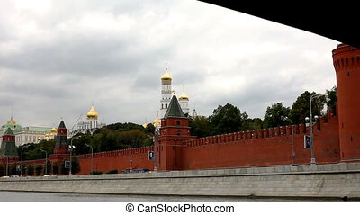 View on kremlin wall and gold dome