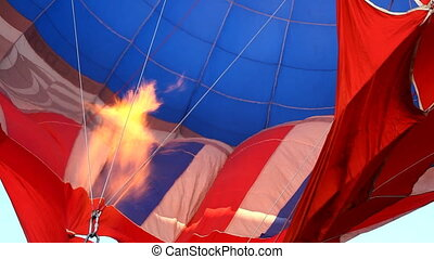 Blow up balloon with fire before start