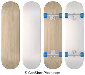 Skateboard - Blank skateboards in wood, white and both...