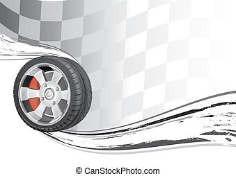 automobile race - vector background of automobile race