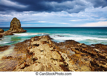 Cannibal Bay, New Zealand - Coastal view, Cannibal Bay, New...