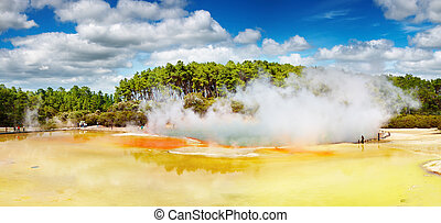 Artist's Palette pool, New Zealand - Artist's Palette pool,...