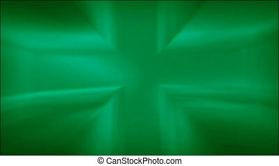 Metallic Green Cross Loop HD - Shiny green metallic abstract...