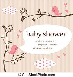 bambino, ragazza, doccia