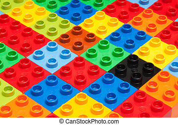 toy - different color bricks, background, texture