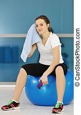 young woman fitness workout