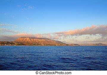 montgo, Montaña, azul, Mediterráneo, dea,...