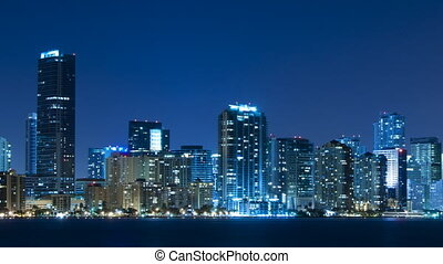 Time lapse of Miami skyline - Time lapse of the Miami...
