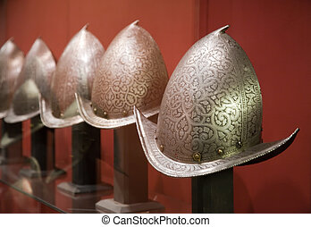 Knight's Helmets - MALTA, VALETTA - DECEMBER 17: Grand...