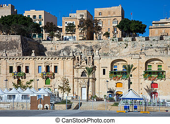 View of Valletta, Malta - View of old Valletta and Grand...